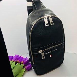 Tommy Hilfiger one strap backpack black